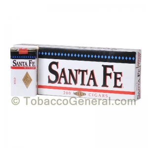 Santa Fe Filtered Cigars 10 Packs of 20 White