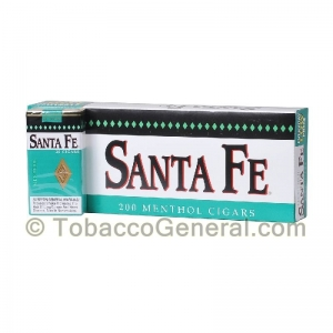 Santa Fe Filtered Cigars 10 Packs of 20 Menthol