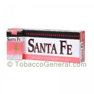 Santa Fe Filtered Cigars 10 Packs of 20 Strawberry