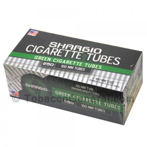 Shargio Filter Tubes 100 mm Size Green (Menthol) 4 Cartons of 250