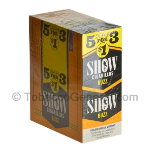 Show Cigarillos Show Buzz Pre Priced 15 Packs of 5