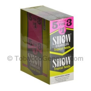 Show Cigarillos Tropical Twista Pre Priced 15 Packs of 5