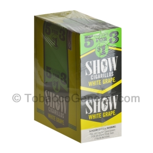 Show Cigarillos White Grape Pre Priced 15 Packs of 5