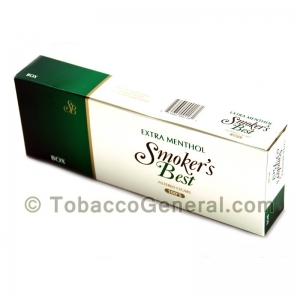 Smoker's Best Extra Menthol Filtered Cigars 10 Packs of 20