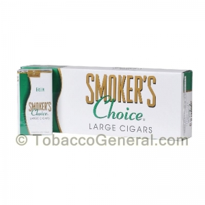 Smoker's Choice Menthol Green Filtered Cigars 10 Packs of 20