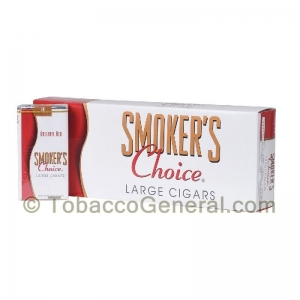 Smoker's Choice Original Red Filtered Cigars 10 Packs of 20