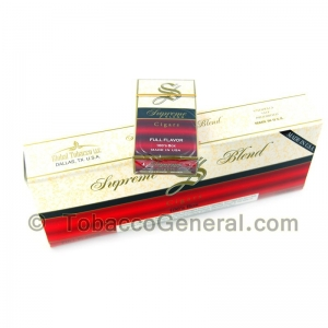 Supreme Blend Full Flavor Filtered Cigars 10 Packs of 20