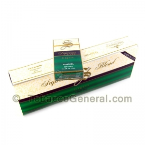 Supreme Blend Menthol Filtered Cigars 10 Packs of 20