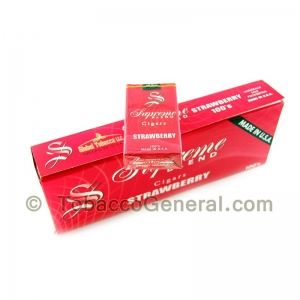 Supreme Blend Strawberry Filtered Cigars 10 Packs of 20
