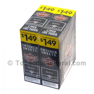 Swisher Sweets Black Cigarillos 1.49 Pre-Priced 30 Packs of 2