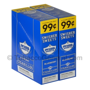 Swisher Sweets Blueberry Cigarillos 99c Pre-Priced 30 Packs of 2