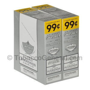 Swisher Sweets Diamonds Cigarillos 99c Pre-Priced 30 Packs of 2