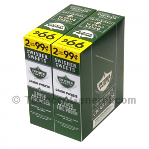 Swisher Sweets Green Sweets Cigarillos 99c Pre-Priced 30 Packs of 2