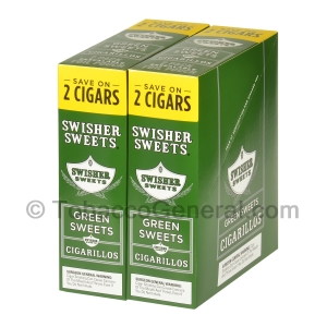 Swisher Sweets Green Sweets Cigarillos 30 Packs of 2