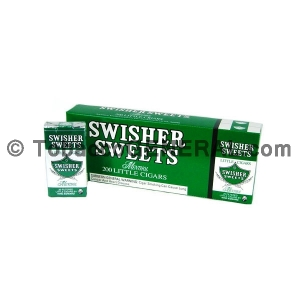 Swisher Sweets Menthol Little Cigars 100mm 10 Packs of 20