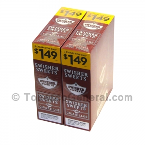 Swisher Sweets Regular Cigarillos 1.49 Pre-Priced 30 Packs of 2