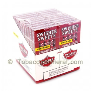 Swisher Sweets Regular Cigarillos 20 Packs of 5