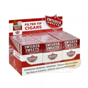 Swisher Sweets Regular Filtered Cigars 10 Packs of 16