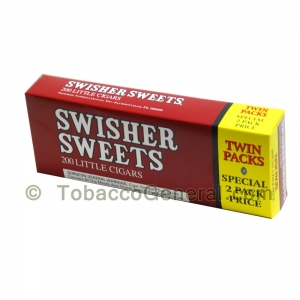 Swisher Sweets Regular Little Cigars 100mm 5 Packs of 40