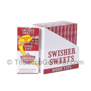 Swisher Sweets Regular Wood Tip Cigarillos 10 Packs of 5