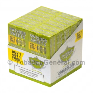 Swisher Sweets White Grape Cigarillos B1G1 Pre-Priced 20 Packs of 5