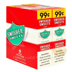 Swisher Sweets Wild Rush Cigarillos 99c Pre-Priced 30 Packs of 2
