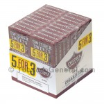 Swisher Sweets Wine Cigarillos B3G5 Pre-Priced 20 Packs of 5