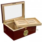 The Berkeley Gloss Cigar Humidor Holds 100 Cigars