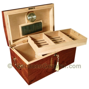The Broadway Gloss Cigar Humidor Holds 150 Cigars