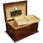 The Caesar French Cigar Humidor Holds 50 Cigars - Cigar Accessories