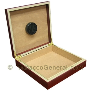 The Chateau Cherry Cigar Humidor Holds 20 Cigars
