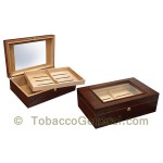 The Dalton Mahogany Cigar Humidor Holds 120 Cigars - Cigar Accessories