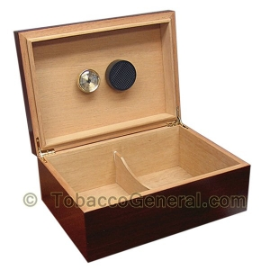 The Executive Cherry Cigar Humidor Holds 75 Cigars