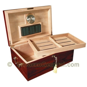 The Monte Carlo Cherry Cigar Humidor Holds 120 Cigars
