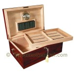 The Monte Carlo Cherry Cigar Humidor Holds 120 Cigars - Cigar Accessories