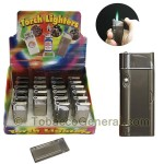 The Sapphire Single Flame Torch Lighter Display of 24 - Cigar Accessories
