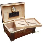 The Stetson Gloss Cigar Humidor Holds 150 Cigars