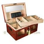 The Valencia Cherry Cigar Humidor Holds 120 Cigars - Cigar Accessories