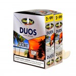 White Owl Duos Coconut/Rum Cigarillos 99c Pre Priced 30 Packs of 2