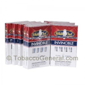 White Owl Invincible Cigars 10 Packs of 5