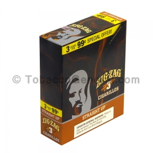 Zig Zag Straight Up Cigarillos 3 for 99 Cents 15 Packs of 3