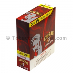 Zig Zag Sweets Cigarillos 3 for 99 Cents 15 Packs of 3