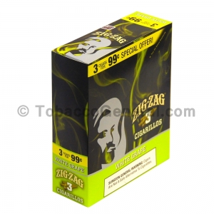Zig Zag White Grape Cigarillos 3 for 99 Cents 15 Packs of 3