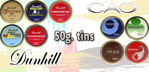 Dunhill and CAO Pipe Tobacco Tins